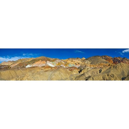 Rock Formation On A Landscape Artists Drive Death Valley Death Valley National Park California Usa Poster Print