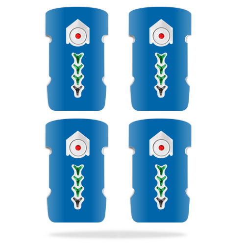 MightySkins Protective Vinyl Skin Decal for DJI Inspire 1 Battery Batteries (4 pack) wrap cover sticker skins Solid Baby Blue
