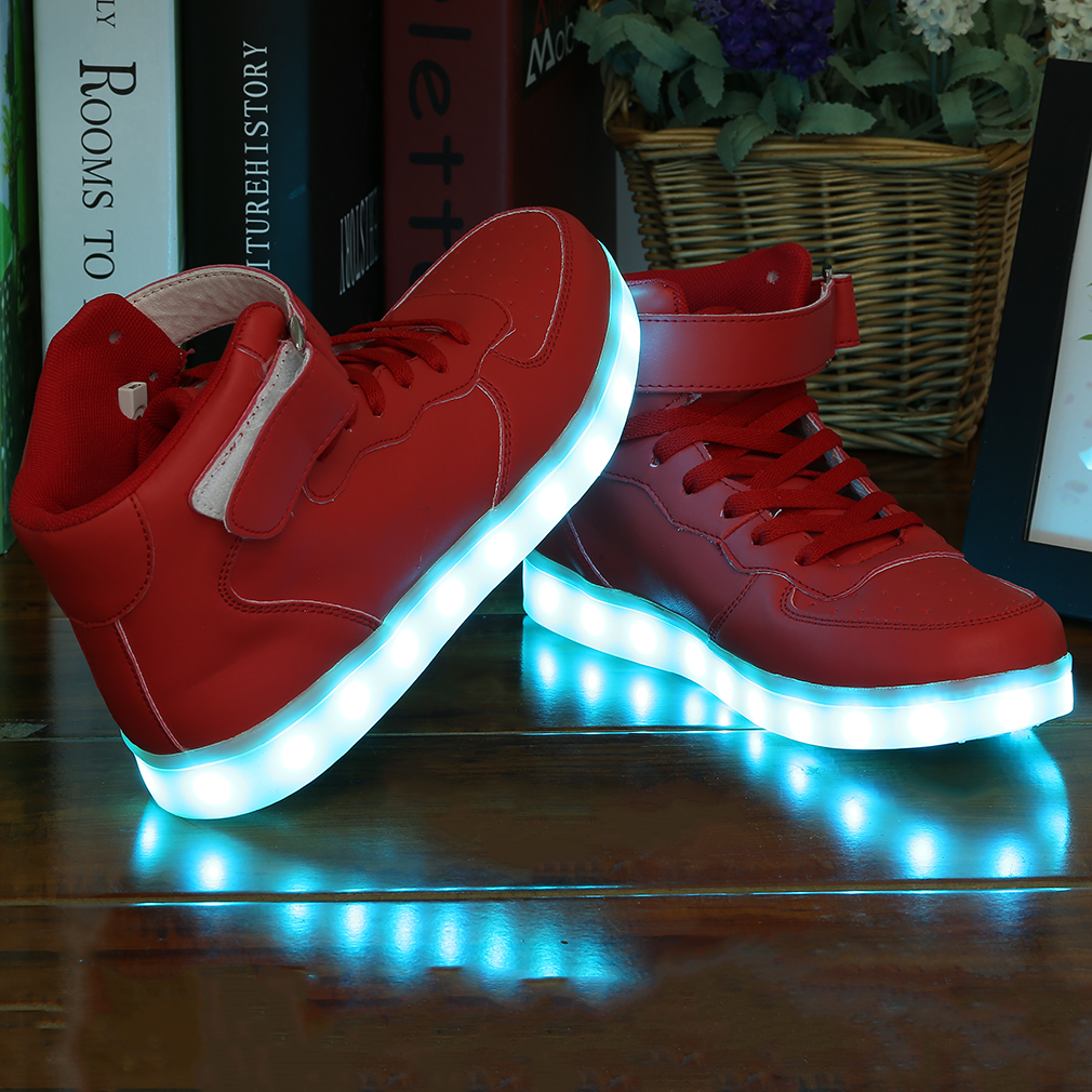 Fashionable Design Women Lady Men Breathable LED Light Lace Up Luminous Shoes Sport Type Casual Unisex Sneaker