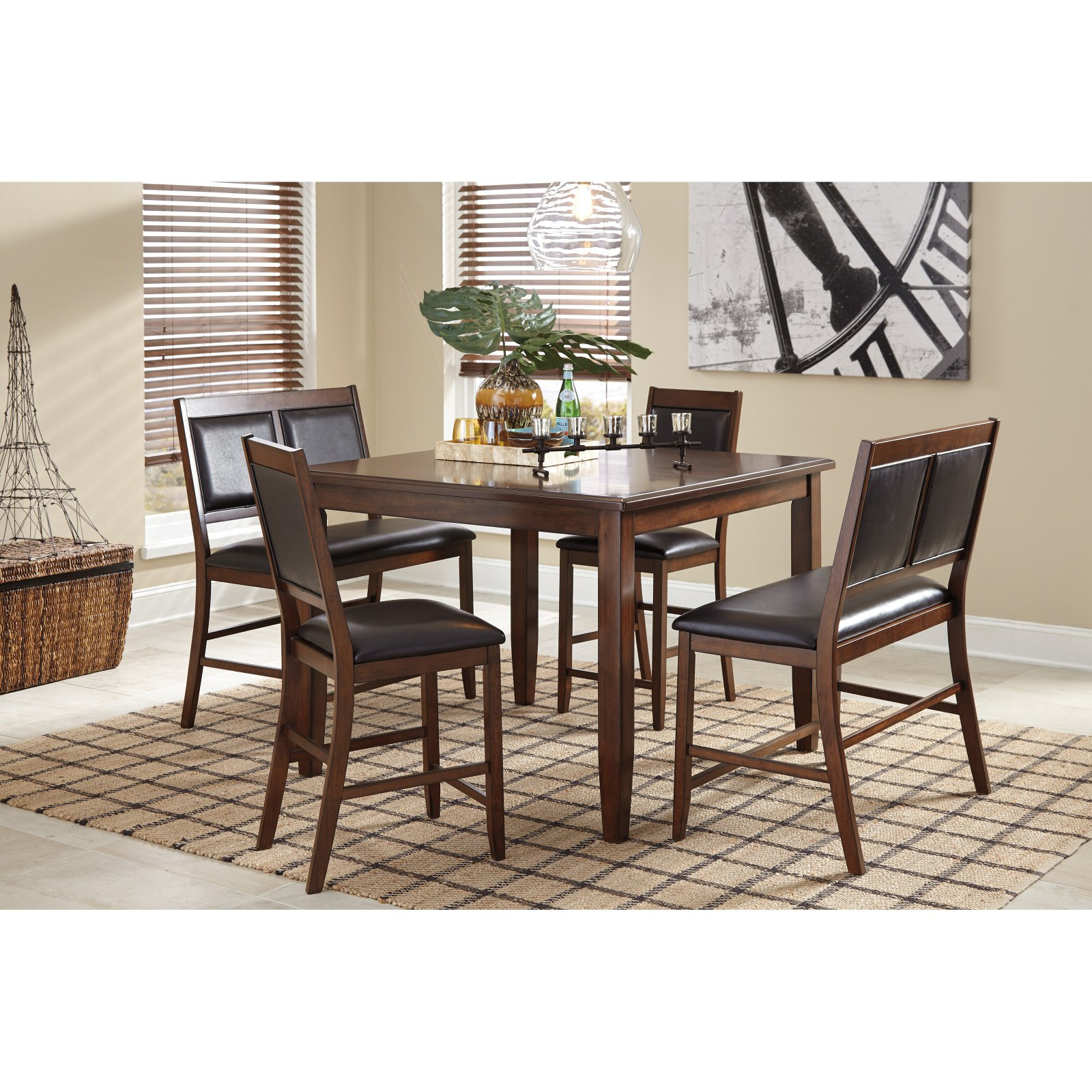 Signature Design by Ashley Meredy 5 Piece Counter Height Dining Table Set