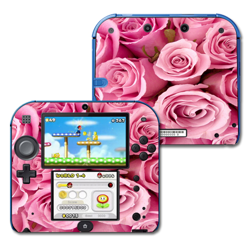 Mightyskins Protective Vinyl Skin Decal Cover for Nintendo 2DS wrap sticker skins Pink Roses