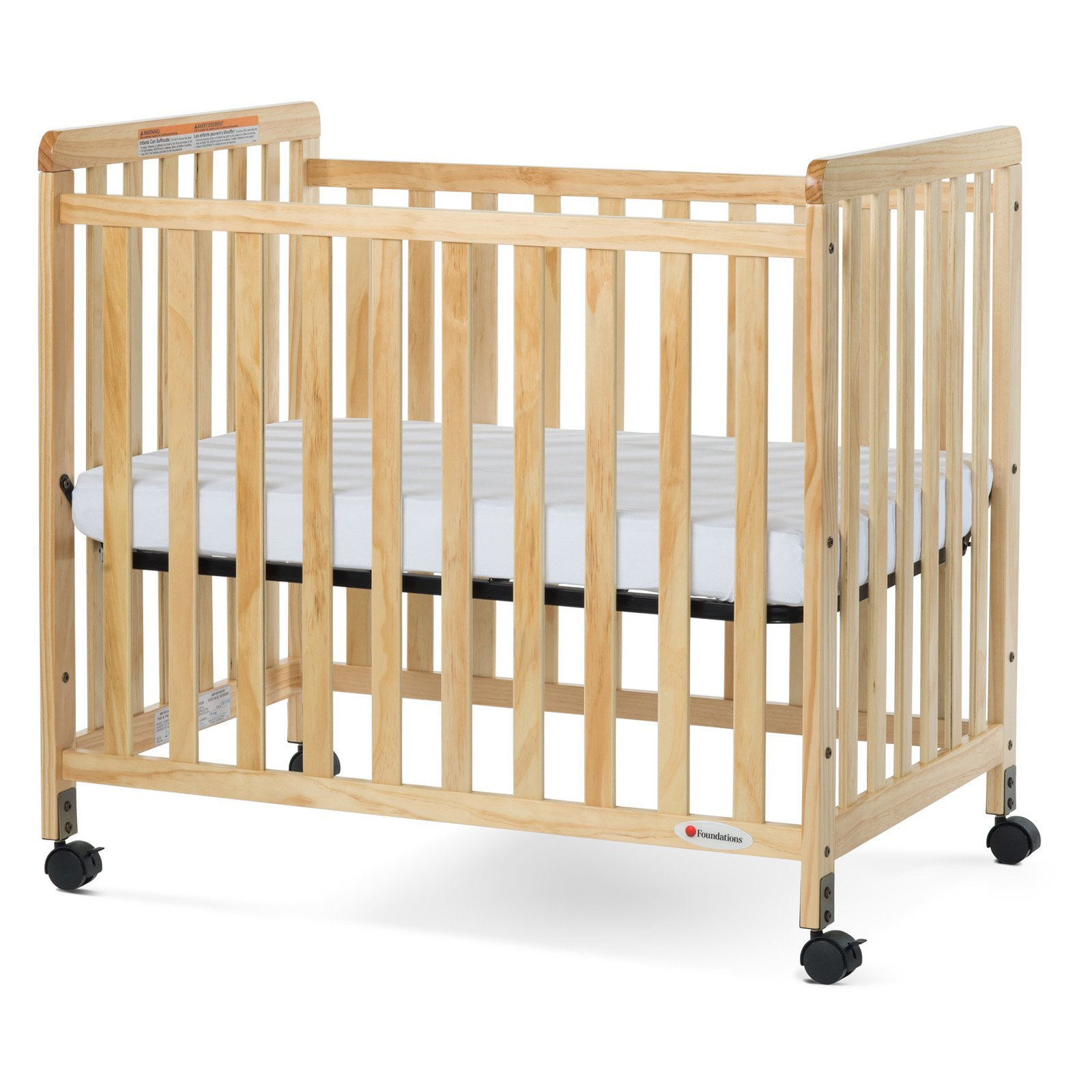 Foundations SafetyCraft Slatted Compact Crib