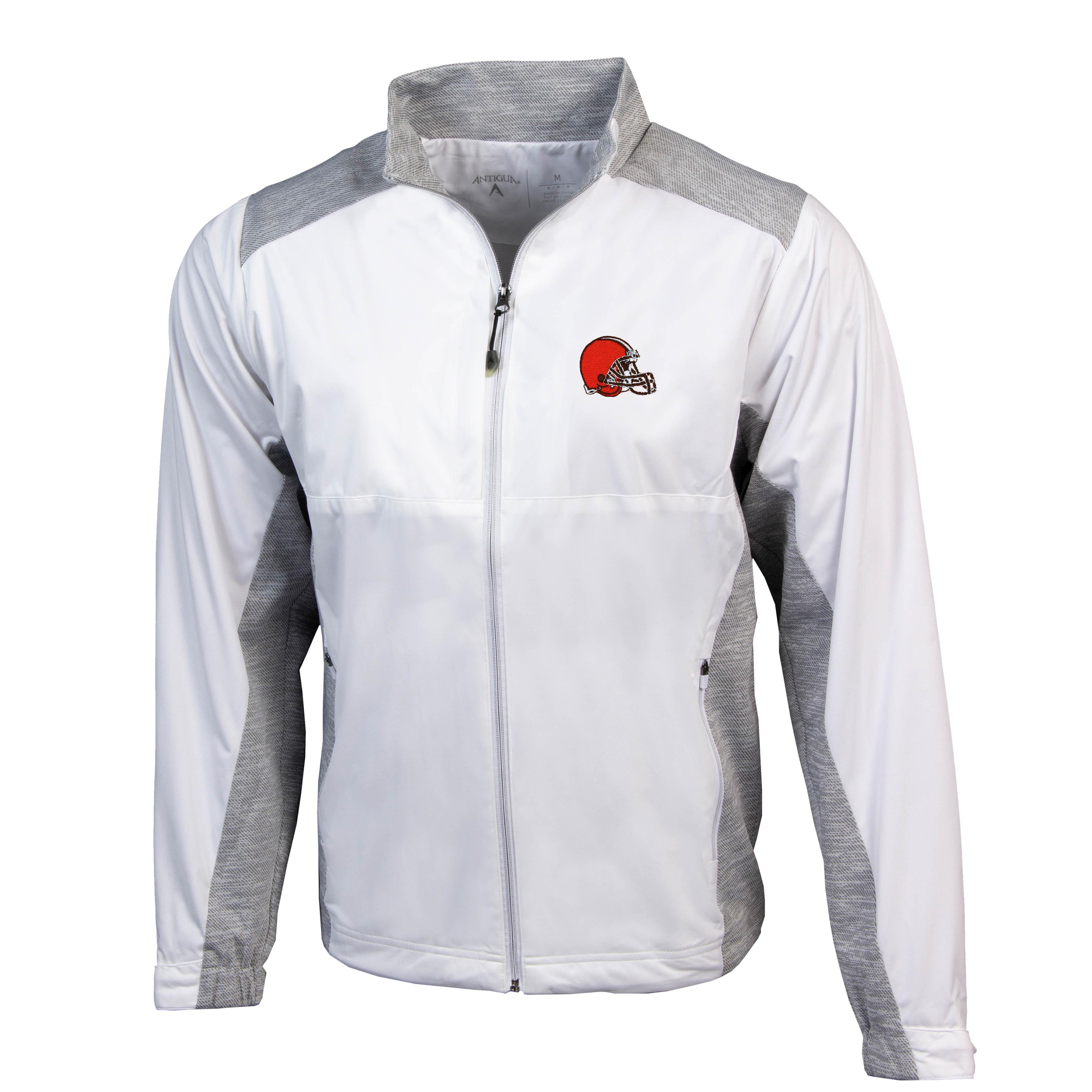 Cleveland Browns Antigua Revolve Full-Zip Jacket - White