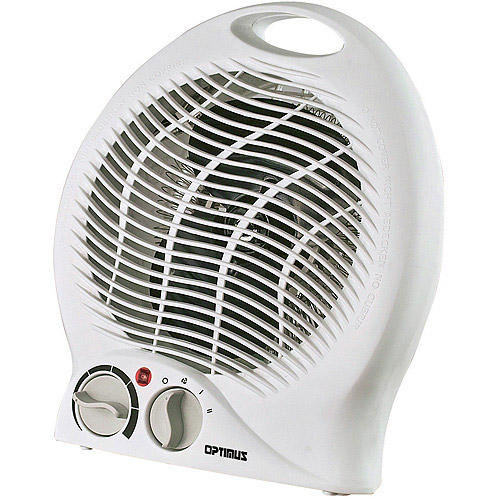 Optimus Portable Heater Fan, White HEOP1322