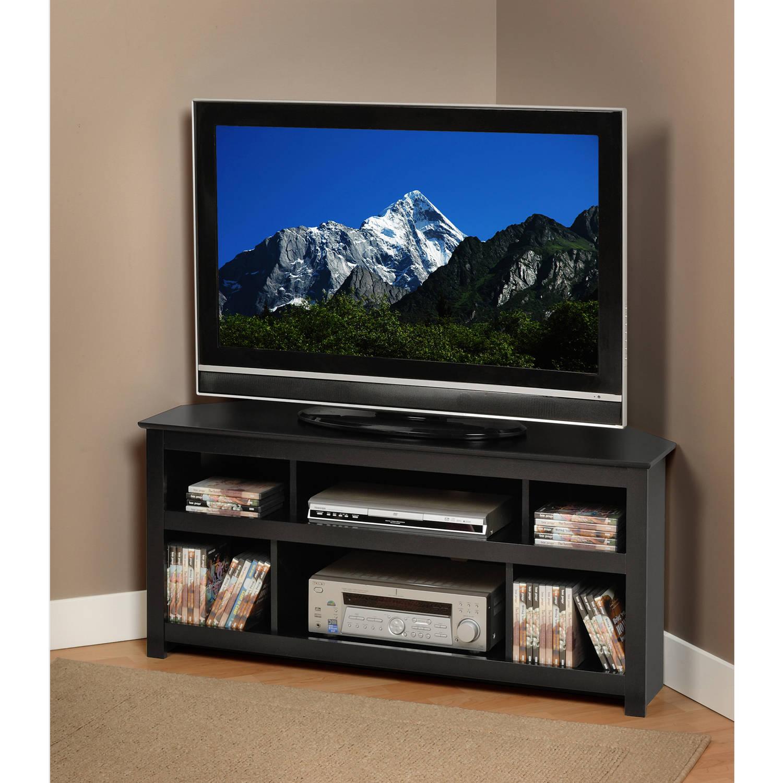 Black Vasari Corner Flat Panel Plasma/LCD TV Console