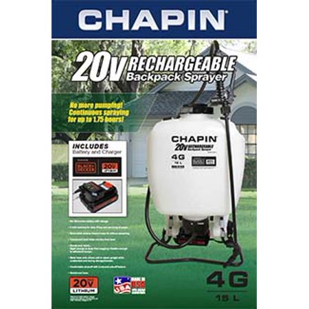 Chapin International Rechargeable 4 Gallon 20v Battery