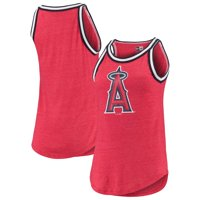 Los Angeles Angels New Era Women's Tri-Blend Jersey Tank Top - Red