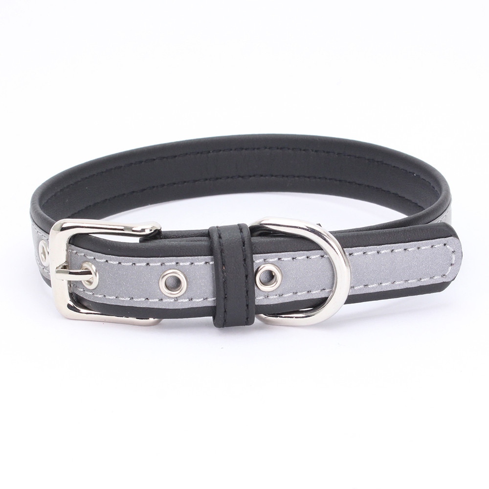 Exquisite Adjustable Reflective Microfiber Dog Puppy Pet Collars
