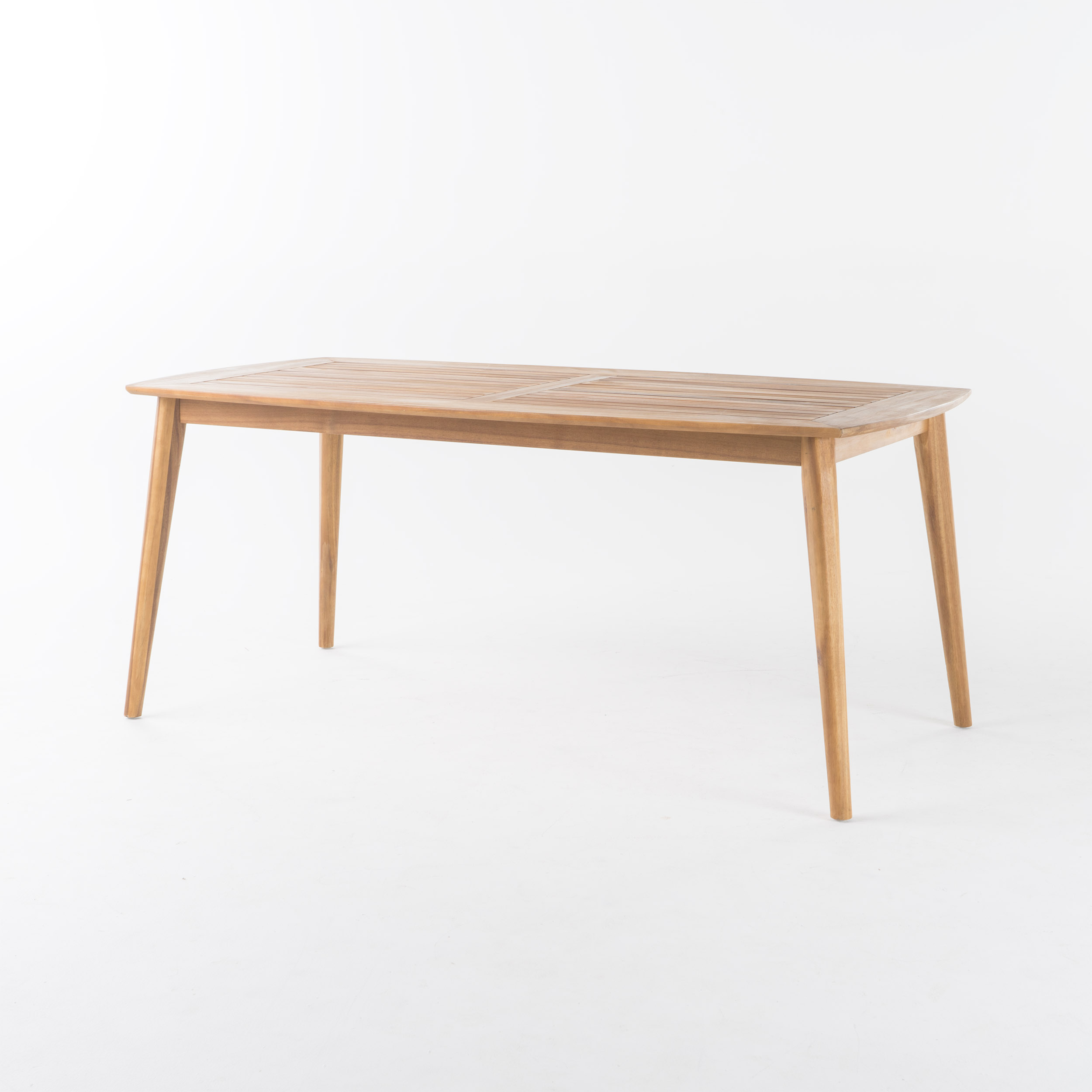 Cote Acacia Wood Outdoor Dining Table, Teak Finish by GDF Studio
