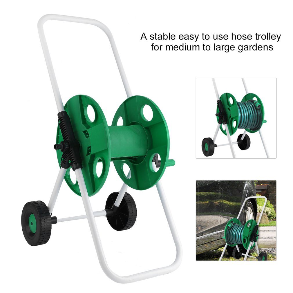 Garden Water Pipe Holder Garden Hose Reels Cart Hose Pipe Holder Trolley by Generic
