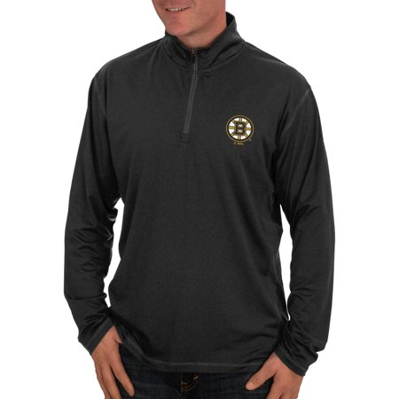 NHL Boston Bruins, Big Mens Quarter-Zip Fitness Jacket by