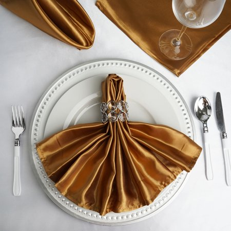 BalsaCircle 5 pcs 20 inch Satin Napkins Table Top Decorations for Party Wedding Events Restaurant Catering Dinner Home (Pink Paper Dinner Napkins)