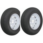2-Pack Trailer Tire On Rim ST175/80D13 175/80 D 13 in. LRC 5 Hole White Spoke