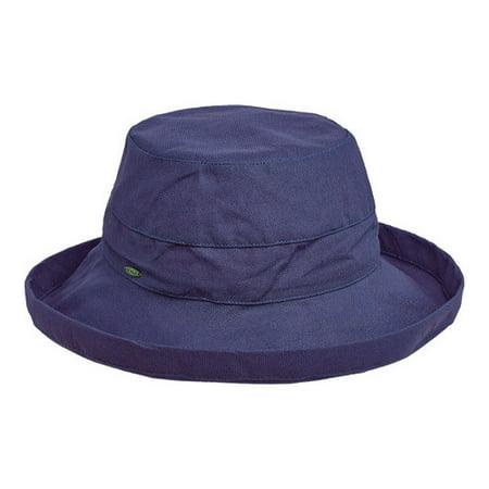 27b29717143 scala - scala collezione women s medium brim cotton hat linen os -  Walmart.com