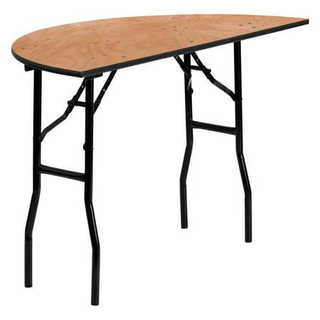 (Flash Furniture 48'' Half-Round Wood Folding Banquet Table)