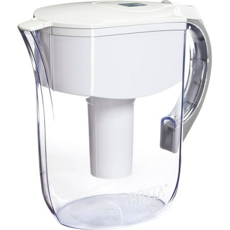 Brita Large 10 Cup Grand Water Pitcher with Filter - BPA Free - White