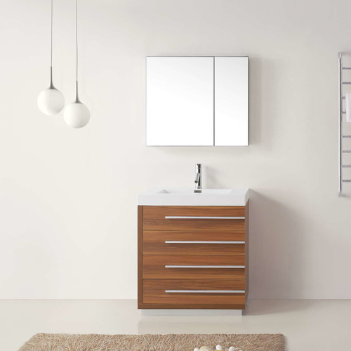 Virtu Bailey 29'' Single Bathroom Vanity Set with Mirror