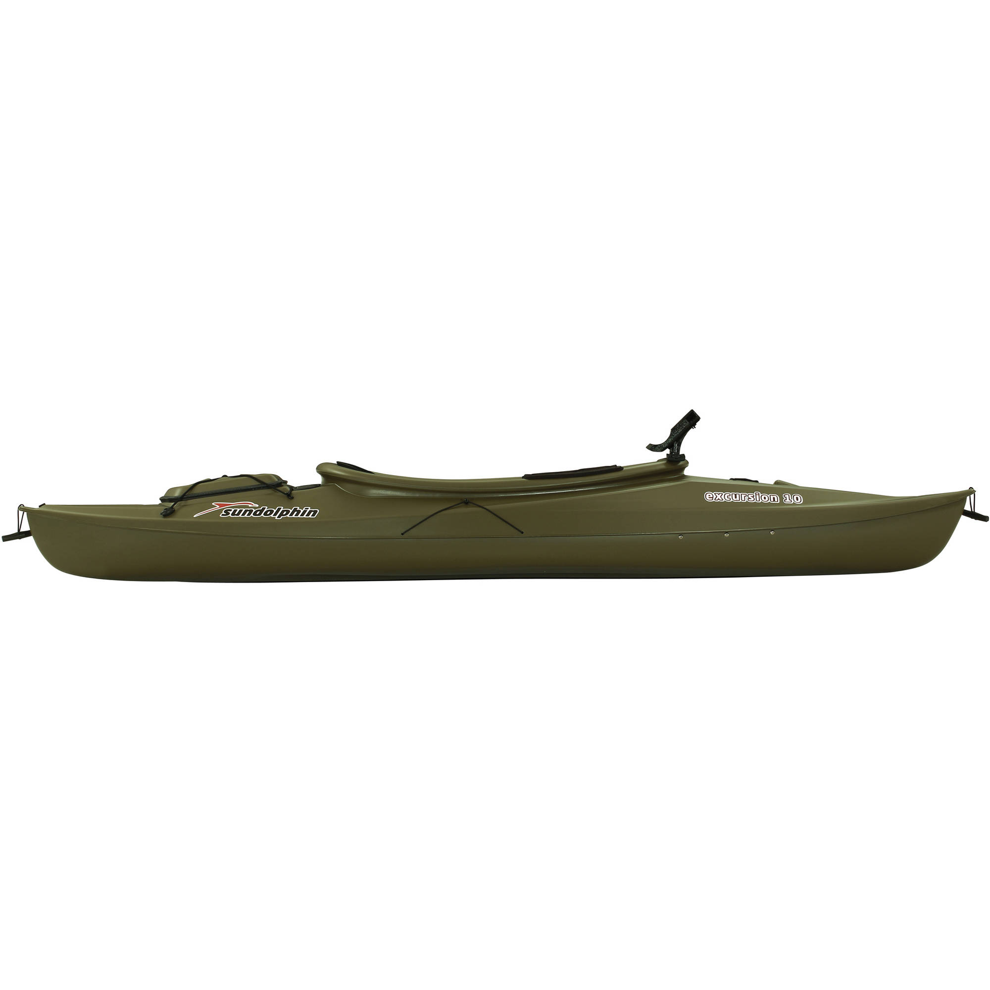 sun dolphin green excursion 10' sit in fishing kayak with bonus, Fishing Reels