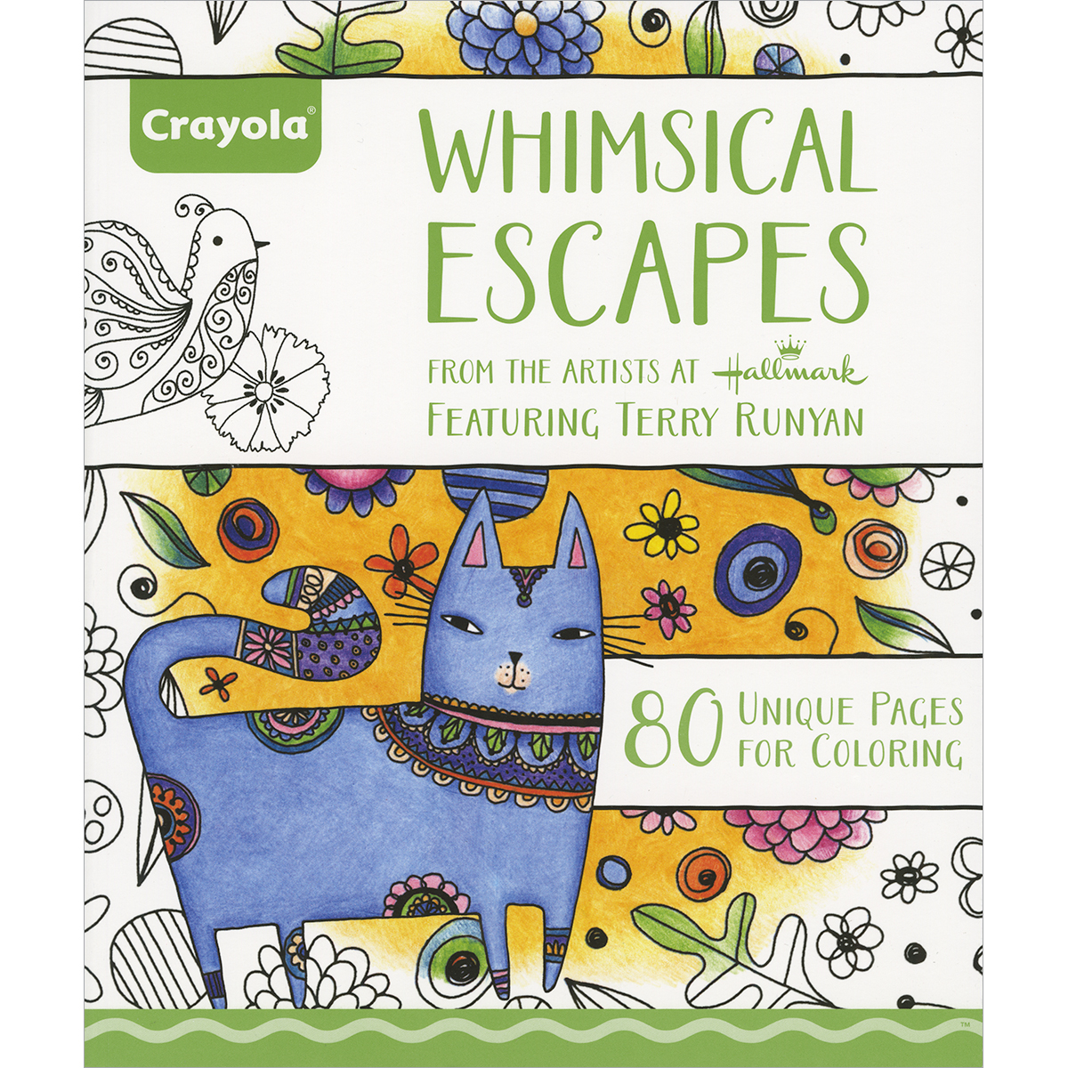 Crayola 80 Page Adult Coloring Book Whimsical Escapes by Crayola