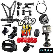 GOMA Industries Best GoPro Accessories Kit For Hero5, 4, Session, Mounts for all Action Cams & camcorders
