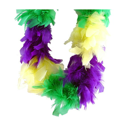 Costume Accessories Touch of Nature Chandelle Mardi Gras Turkey Feathered Boa - Mardi Gras Feather Boas