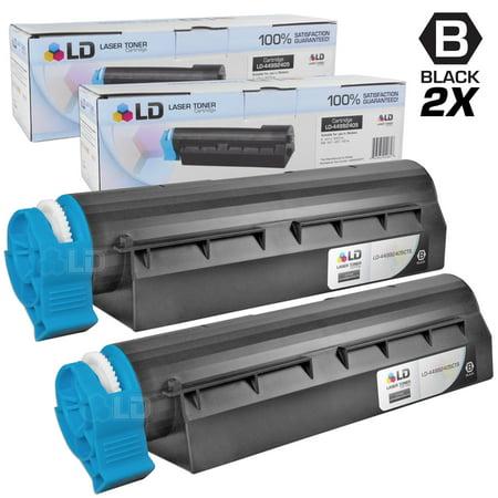 Set of 2 Okidata Compatible 44992405 Black Laser Toner Cartridge for the MB451W MFP Printers