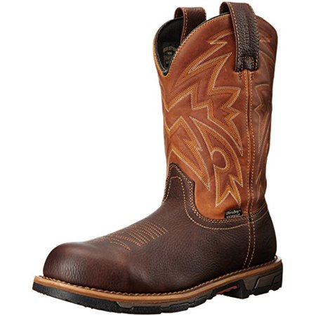 irish setter work men's marshall 83934 pull-on steel toe work boot, brown/harvest gold, 12 2e