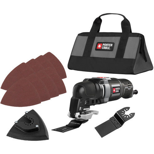 Factory-Reconditioned Porter-Cable PCE606KR 3.0 Amp Oscillating Multi-Tool Kit with 11 Accessories (Refurbished)