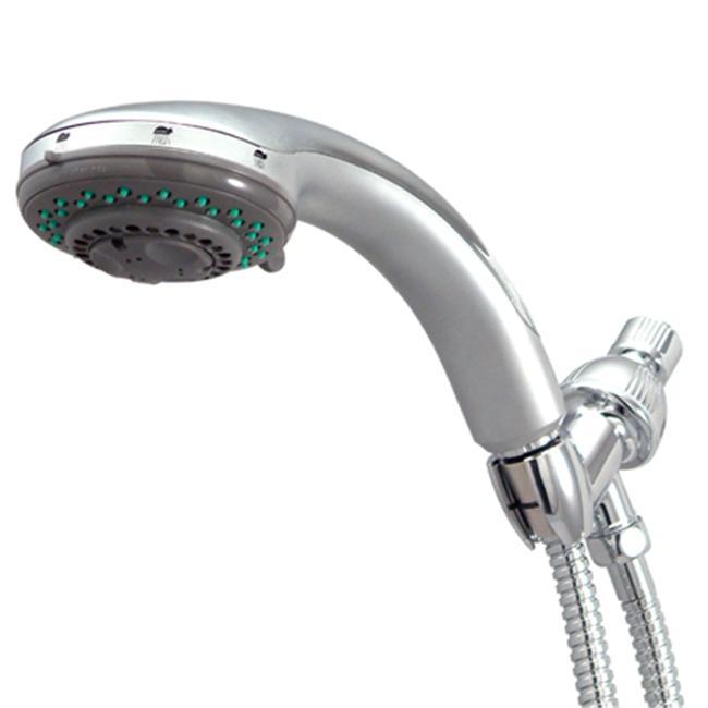 5 Setting Adjustable Shower With Brass Hose - Satin Nickel Finish