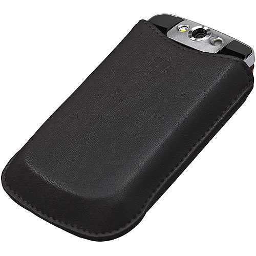 BlackBerry Leather Sleeve Case for BlackBerry Pearl Flip 8220 - Black