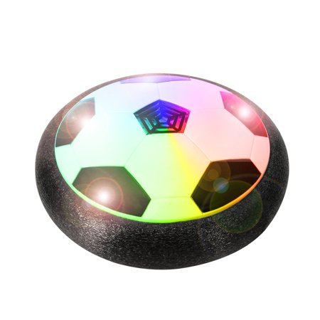 Air Power Soccer Disk Indoor Outdoor Hover Ball Training Football Sports Toy With Foam Bumper And Colorful Led Lights For Thanksgiving  Christmas  Birthday Gift