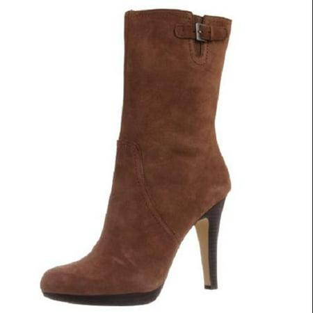 Anne Klein Women 'Lionna' Suede Boot Shoe, Dark Taupe Suede,