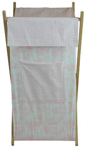 Tadpoles Toile Hamper, Pink Multi-Colored by Tadpoles