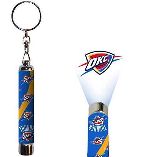 Oklahoma City Thunder Official NBA  Logo Projection Key Chain by Evergreen