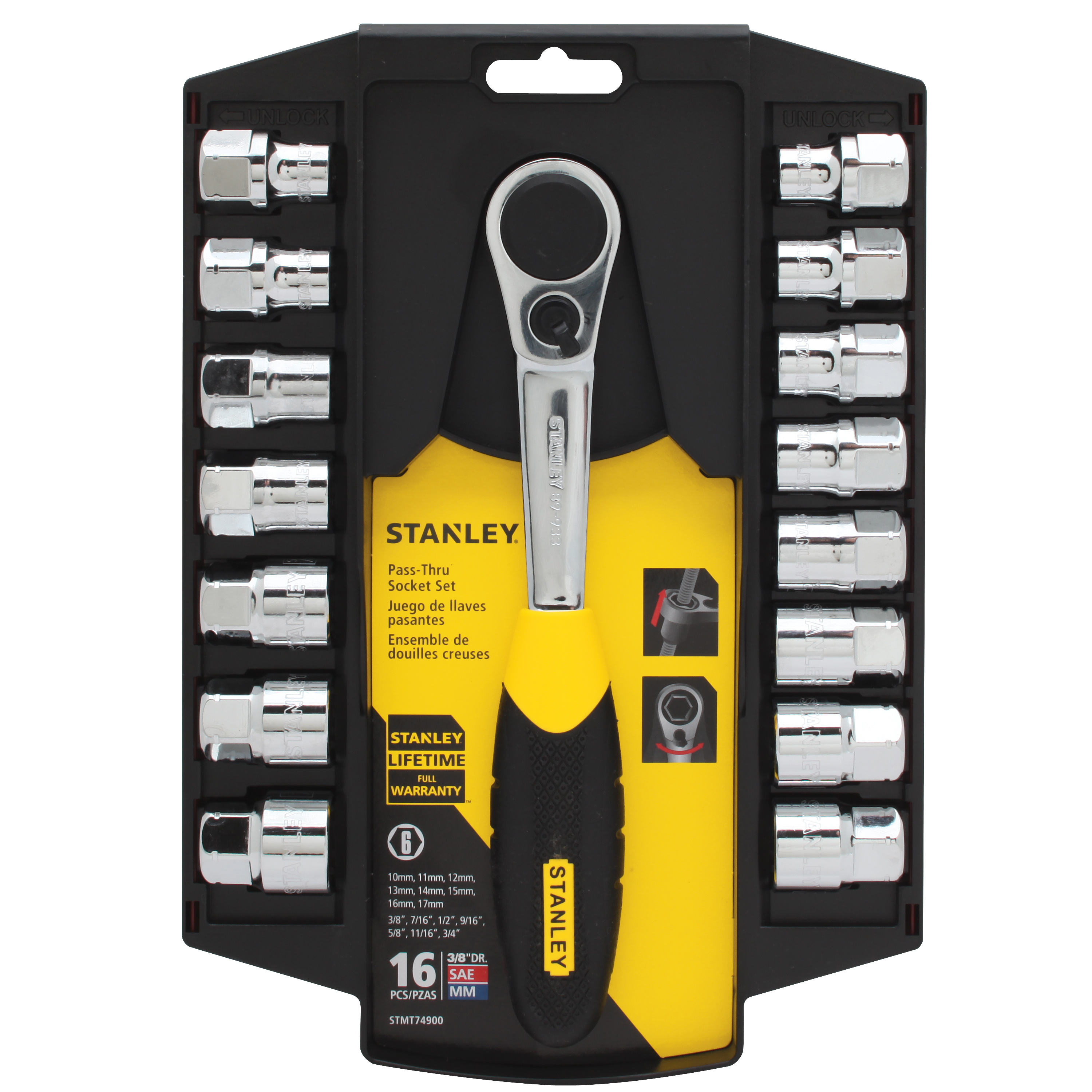 STANLEY STMT74900 16pc Pass-Thru Set