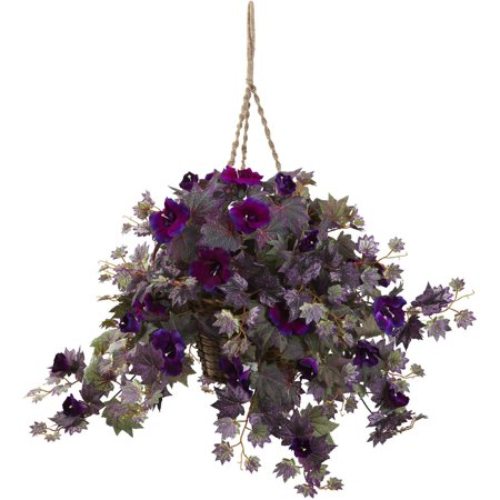 Nearly Natural Morning Glory Hanging (Growing Morning Glory Flowers)