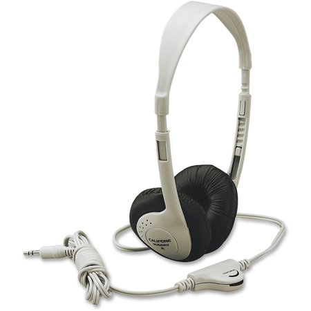 - Califone, CII3060AV, Multimedia Stereo Headphone Wired Beige, 1, Beige