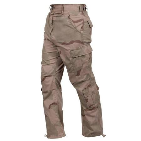 Rothco Camo Tactical Bdu Pants Tri Color Desert Camo Large