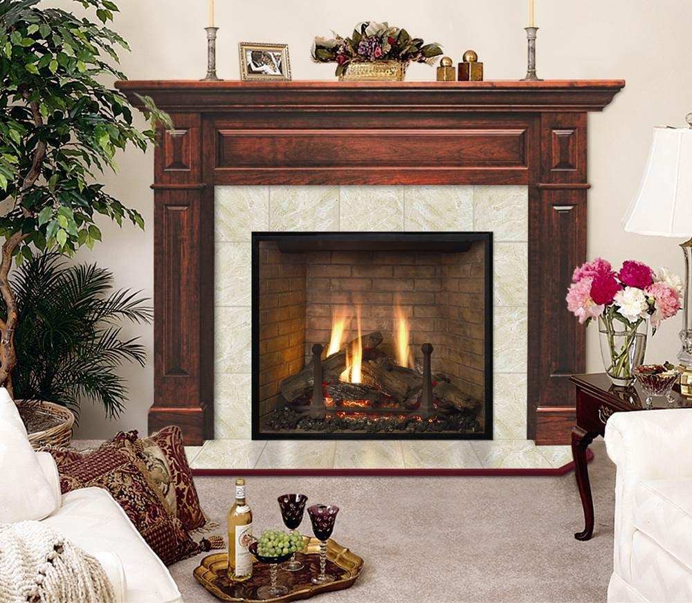 lewiston flush cherry wood fireplace mantel in traditional mahogany rh walmart com cherry fireplace mantels york pa cherry wood fireplace mantel