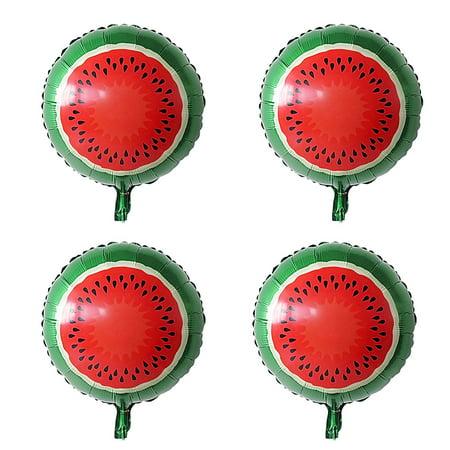 Foil Watermelon Print Balloon Mylar Balloons Wedding Party Celebration Decor 13 Inch 4pcs - Watermelon Party Supplies