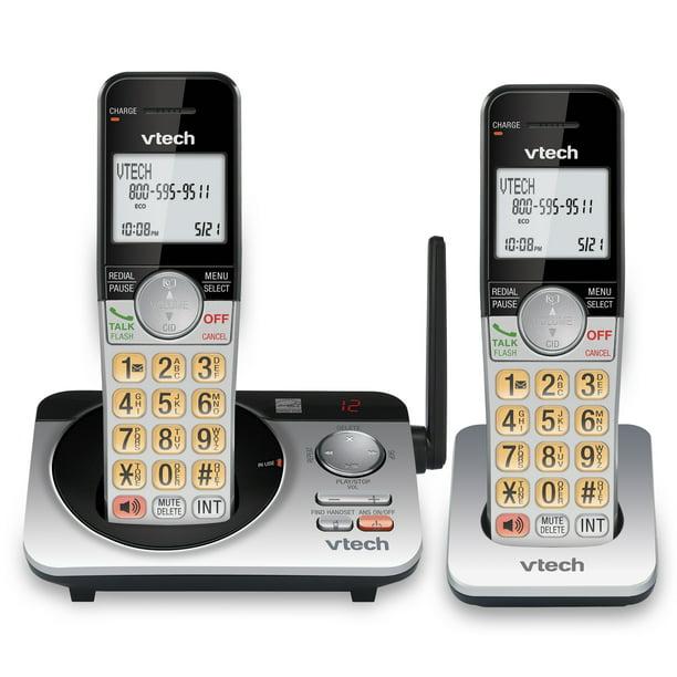 VTech 2 Handset Extended Range DECT 6.0 Expandable