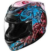 Icon Airmada Sugar Motorcycle Helmet Pink/Blue