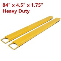 "84"" x 1.75"" Steel Pallet Fork Extensions for forklifts lift truck slide on clamp"