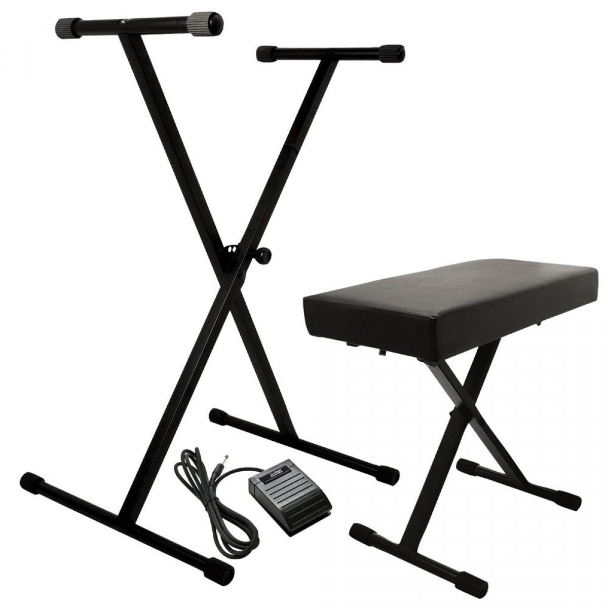 On-Stage KPK6520 Keyboard Stand/Bench Pak with Sustain Pedal