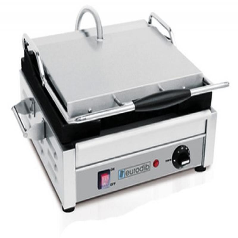 Eurodib Single Panini Grill, Flat Top and Bottom