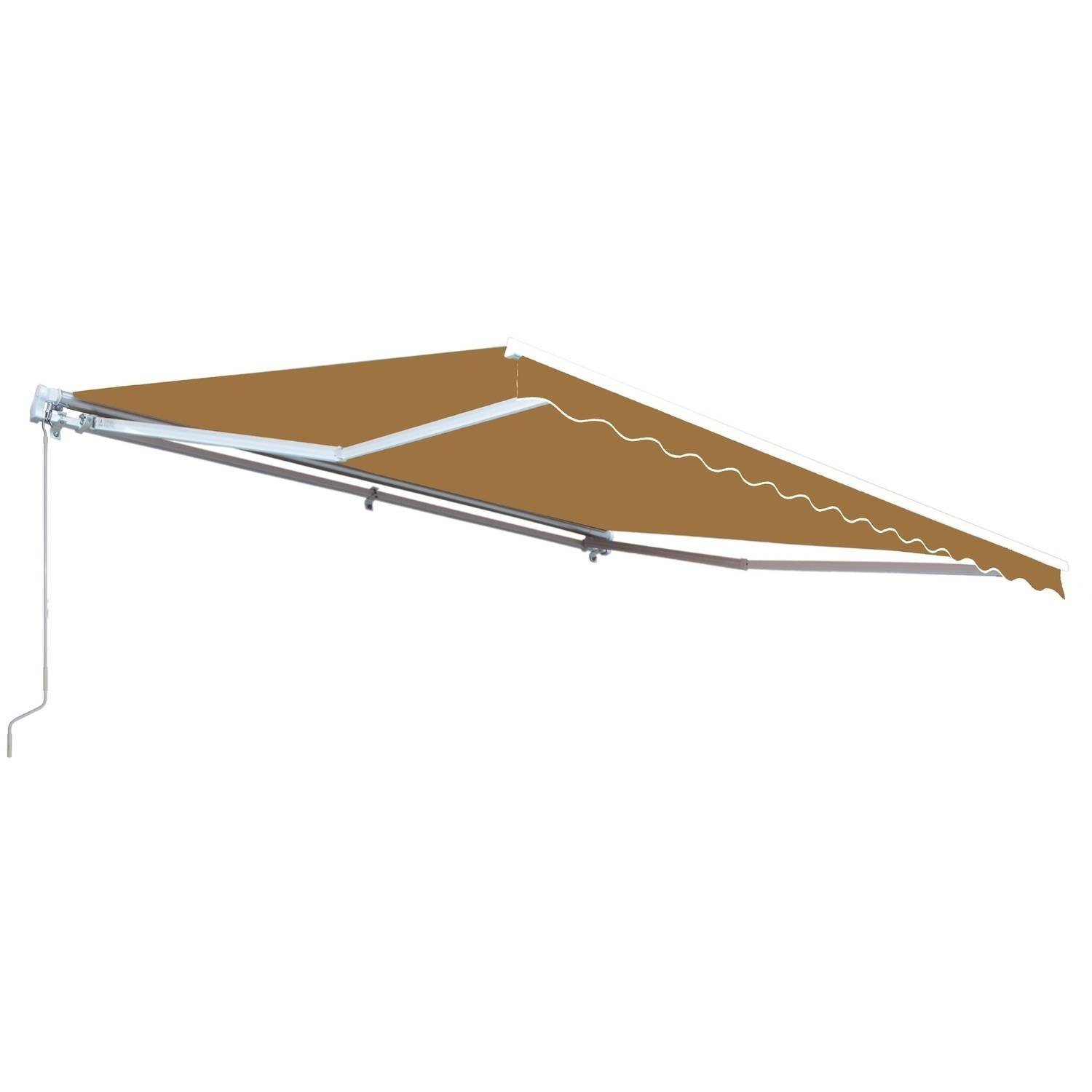 ALEKO Retractable 12' x 10' (3.65m x 3m) Patio Awning, Solid Sand