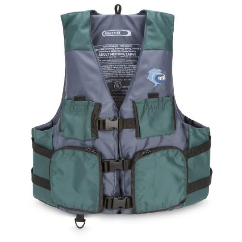MTI Adventurewear Fisher SE Kayak Fishing PFD Life Jacket...