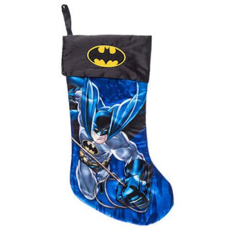 Batman Satin Stocking Christmas Justice League Mantel - Christmas Mantel Decorations