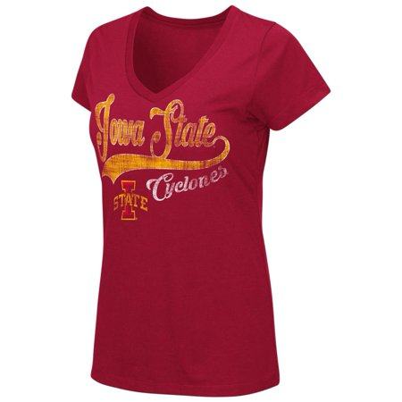 Iowa State Cyclones Women's Tee Short Sleeve V-Neck - Iowa Cyclones