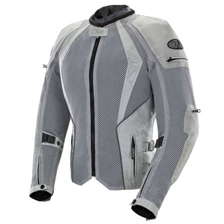 Joe Rocket Cleo Elite Women's Textile Jacket Silver Md  (Kawasaki Textile Jacket)